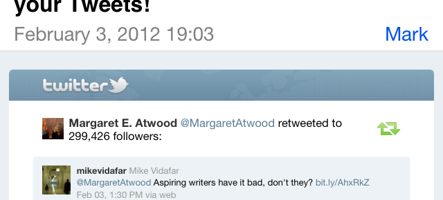 The Day Margaret Atwood Retweeted Me